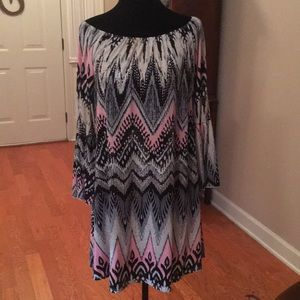 Boutique shift dress with bell sleeve size LG
